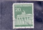 Sellos de Europa - Alemania -  puerta de Brandenburgo