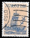 Stamps of the world : Norway :  Noruega-cambio