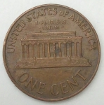monedas de America - Estados Unidos -  1966 one cent