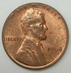 monedas de America - Estados Unidos -  1964 one cent
