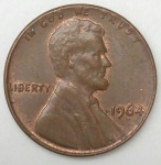 monedas de America - Estados Unidos -  1964 one cent
