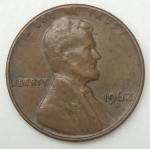 monedas de America - Estados Unidos -  1962 D one cent