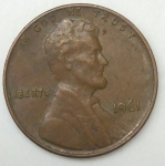monedas de America - Estados Unidos -  1961 one cent