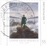 Sellos de Europa - Alemania -  pintura de Caspar David Friedrich