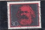 Stamps Germany -  Karl Marx - filósofo