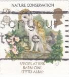Stamps United Kingdom -  Buho-especie en peligro de extinción