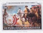 Sellos de Africa - Rwanda -  bicentenario de los Estados Unidos