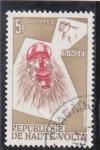 Stamps : Africa : Burkina_Faso :  mascara