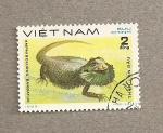 Stamps Vietnam -  Camaleón