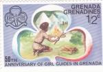 Sellos del Mundo : America : Granada : 50 aniversario de chicas guia en Grenada