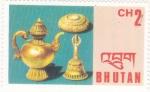 Sellos del Mundo : Asia : Bhután : artesania