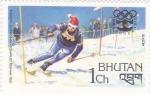 Sellos del Mundo : Asia : Bhután : juegos olimpicos de invierno Innsbruck-76