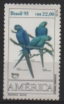 Stamps Brazil -  ANODORHYNCHUS  HYACINTHINUS