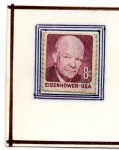 Stamps : America : United_States :  Eisehower