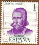 Sellos del Mundo : Europa : España : Literatos Españoles - Guillen de Castro
