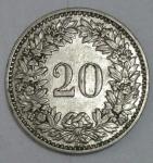monedas de Europa - Suiza -  1921-20 cent