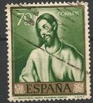sellos de Europa - España -  Pintores y sus obras. Domenico Theotocopoulos El Greco (1541-1614). ED 1332