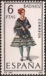 Sellos del Mundo : Europa : España : Trajes típicos. Badajoz 1967  6 ptas