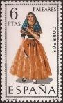 Sellos del Mundo : Europa : España : Trajes típicos. Baleares  1967  6 ptas