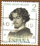 Stamps of the world : Spain :  Literatos Españoles - Gustavo Adolfo Becquer