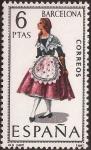 Stamps Spain -  Trajes típicos. Barcelona 1967  6 ptas