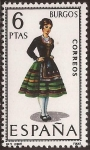 Sellos del Mundo : Europa : España : Trajes típicos. Burgos 1967  6 ptas