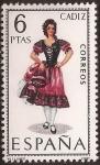 Sellos del Mundo : Europa : España : Trajes típicos. Cádiz 1967  6 ptas