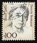 Stamps Germany -  Therese Giehse (1898-1975) actriz