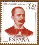 Sellos del Mundo : Europa : España : Literatos Españoles - Jose Mª. Gabriel y Galan