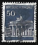 Sellos de Europa - Alemania -  Puerta de Brandenburg Berlin