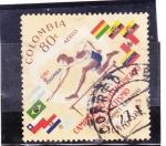 Sellos del Mundo : America : Colombia : campeonato de atletismo