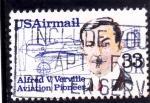 Stamps United States -  heroes de la aviación
