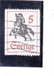 Stamps Sweden -  jinete a caballo