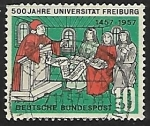 Sellos de Europa - Alemania -  500 jahre universitat freiburg
