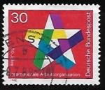 Stamps Germany -  50 años de la Organización Internacional del Trabajo
