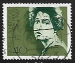 Stamps Germany -  Ricarda Huch 1864-1947