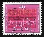 Stamps Germany -  Partitura de Heinrich Schütz (1585-1672)