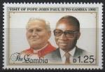 Sellos del Mundo : Africa : Gambia : S.S.  JUAN  PABLO  II  Y  PRESIDENTE  DWADA  JAWARA