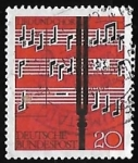 Stamps Germany -  Partitura