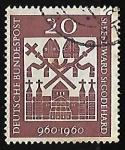 Sellos de Europa - Alemania -      1,000th Anniv. of Birth of St. Bernward and St. Godehard