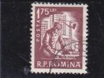 Sellos de Europa - Rumania -  obrero de la construcción