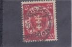 Stamps Poland -  escudo ciudad liberada Danzing