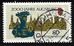 Stamps Germany -  2000 years Augsburg