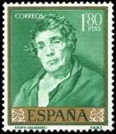 Sellos del Mundo : Europa : España : ESPAÑA SEGUNDO CENTENARIO NUEVO Nº 1246 ** 1,80P VERDE ESMERALDA VELAZQUEZ