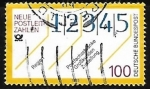 Sellos de Europa - Alemania -  New postcodes
