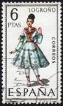 Stamps Spain -  RES-TRAJE REGIONAL FEMENINO – LOGROÑO