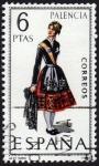 Stamps Spain -  RES-TRAJE REGIONAL FEMENINO – PALENCIA