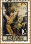Stamps Spain -  LUIS DE MORALES 'EL DIVINO' - San Fco. de Asis