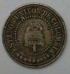 monedas de America - Colombia -  1881- 2 2/5 centavo
