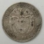 monedas de America - Colombia -  1911 plata 10 centavos